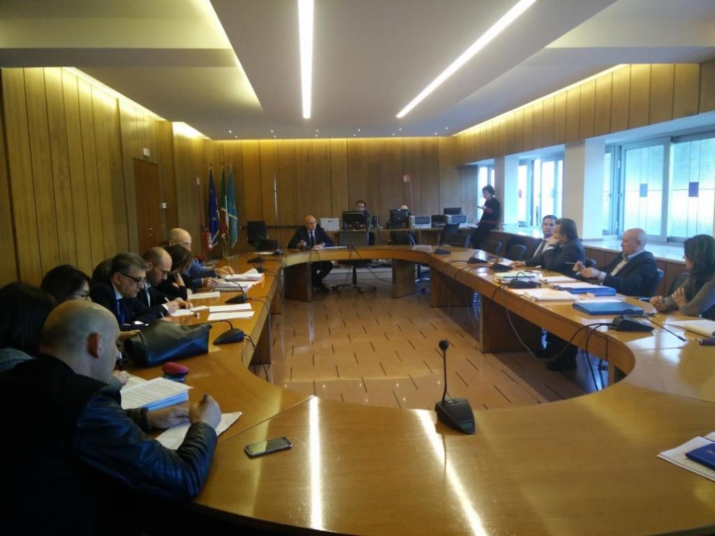 Un momento della commissione ambiente tenutisi oggi in Regione
