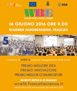 #WIRE16 - WORKSHOP IMPRESA, RICERCA ED ECONOMIA