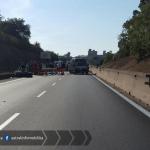 Incidente mortale sulla Pontina, strada chiusa al traffico: perde la vita un centauro