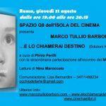 Spazio Q8 dell'Isola del Cinema con Marco Tullio Barboni il 31 agosto
